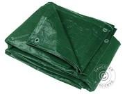 Tarpaulins PE 4x6 m (6 pcs). 65 g/m² Green