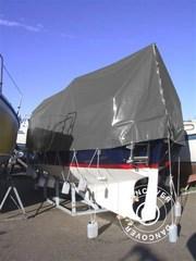 Tarpaulin 8x14 m PVC 500 g/m². Grey
